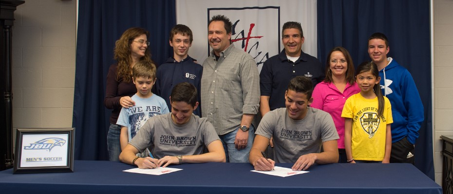 Seniors Cardona and Marulanda Sign to Play Soccer at John Brown University